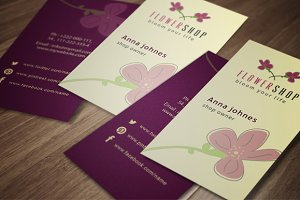 Flower Shop Business Card 2 Colors