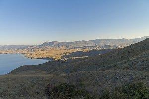 Mountainous semi-desert seacost