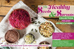Healthy seeds & sprouts collection
