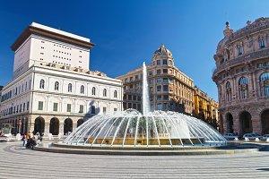 De Ferrari square, Genoa, Italy