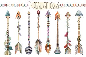 Tribal Arrows Vector PNG, & JPG Set