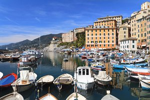 little harbor in Camogli, Italy