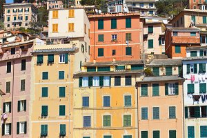 colored italian facades