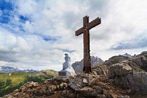 cross in Castellazzo mount