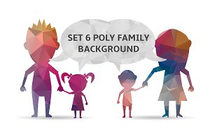 set 6 poly family background