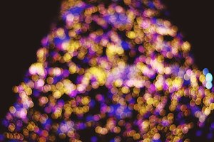 Bokeh lights of Christmas tree
