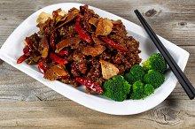 Succulent chicken and tofu dish