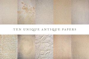 10 Unique Antique Paper Pack