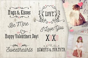 Vector Valentine Overlay Words Love