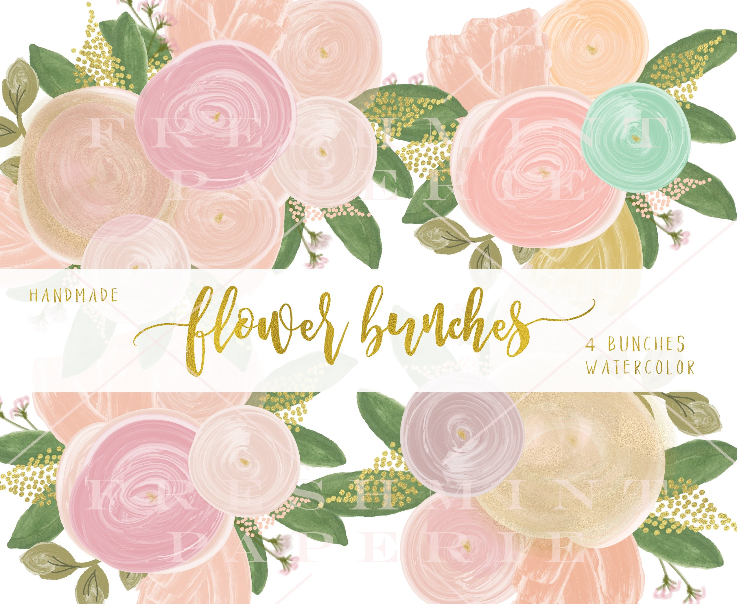 Watercolor flowers png clipart illustrations on creative market - Watercolor Flowers Png Clipart Illustrations On Creative Market 9