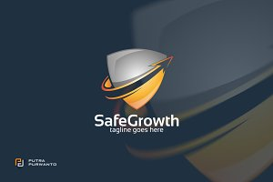 Safe Growth / Shield - Logo Template