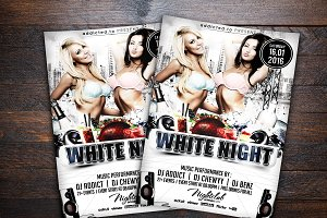 White Night Party Flyer
