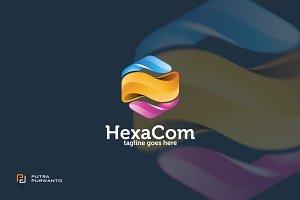 HexaCom / Cube - Logo Template