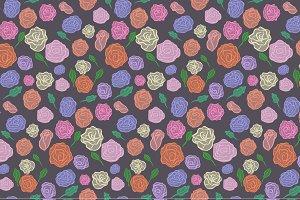 Valentine roses seamless pattern
