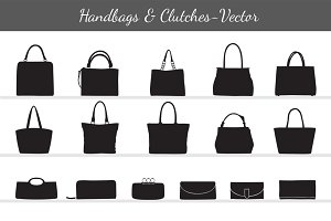 Women's Handbags & Clutches Vector