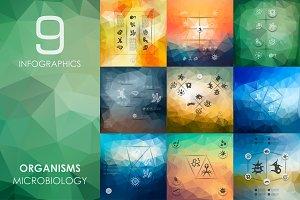 9 organisms infographics