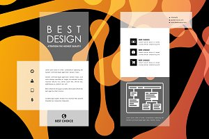 Brochure with abstract background