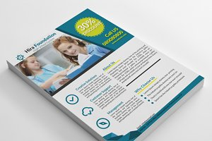 Multi Purpose School Education Flyer