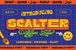 SCALTER - Font Pack Family 75% OFF