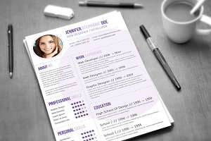 CV Template / 3 Colors