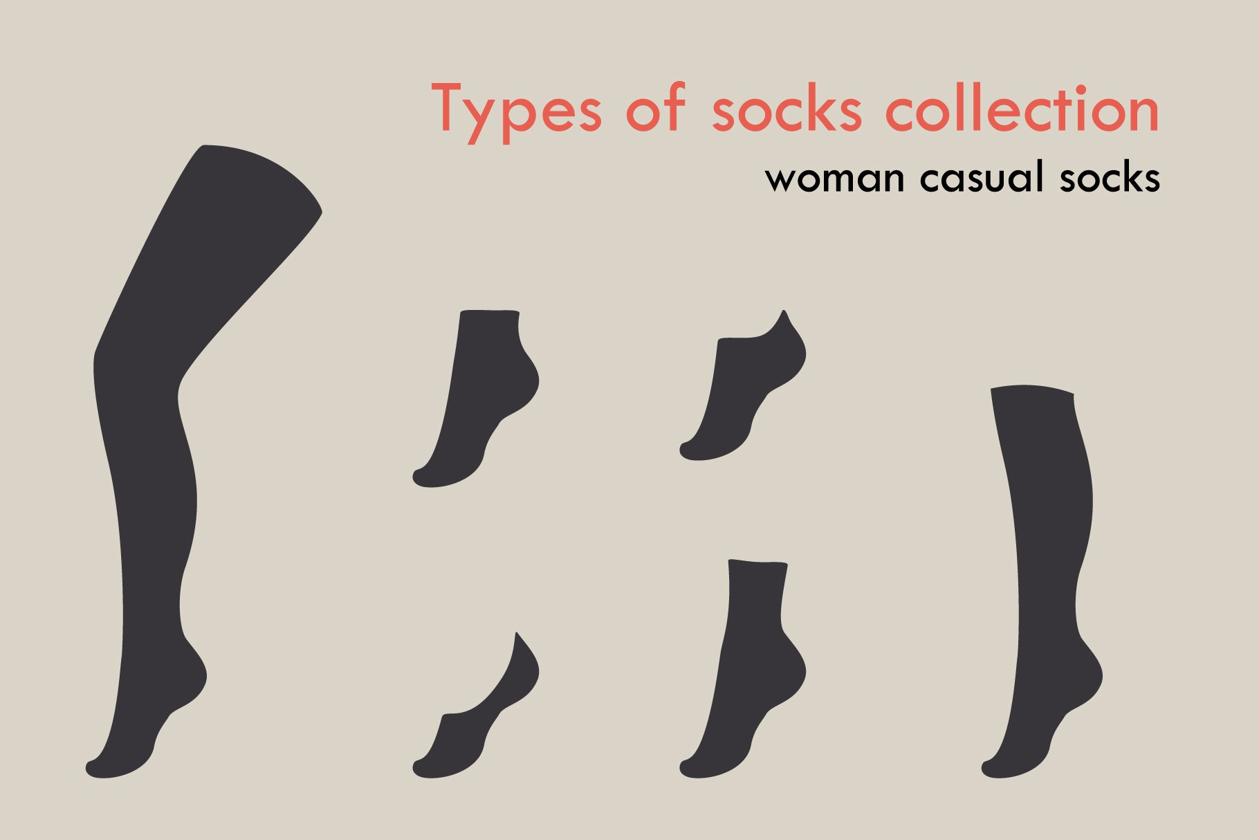 Types Of Socks Collection Pre Designed Photoshop Graphics Creative Market