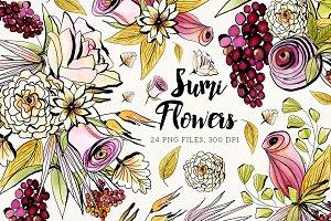 Sumi Flowers