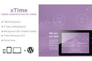 xTime Coming Soon Wordpress Theme