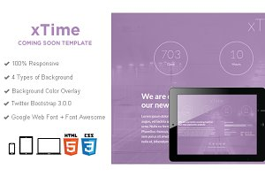 xTime - Coming Soon HTML5 Template
