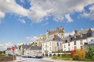 street in old town of Amboise