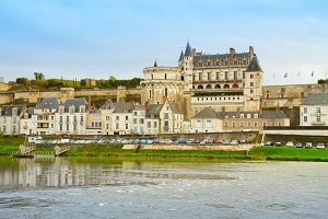 Amboise old town on Loire river