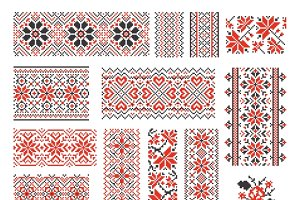 Ukrainian ethnic seamless pattern