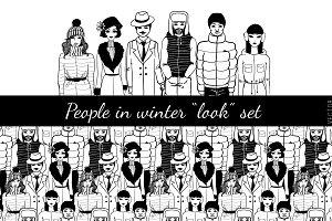 """People in winter """"look"""" set."""