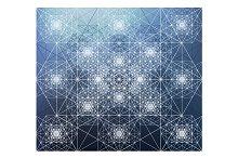Kaleidoscopic Sacred Geometry Vector