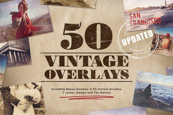 50 Vintage Overlays + Bonus
