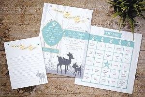 Deer Forest Baby Shower Invitation