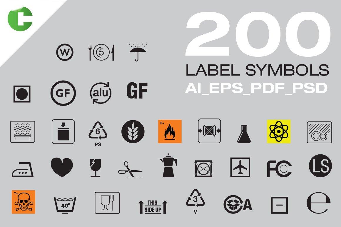 200 Label Symbols ~ Icons ~ Creative Market