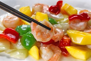 Shrimp and Peppers