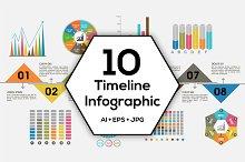 Timeline Infographics Bundle.