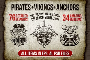 Pirates Vikings Anchors 34 logo pack