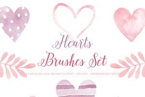 Photoshop Brushes Valentine Hearts