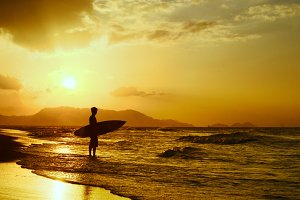 Surfing Sunset