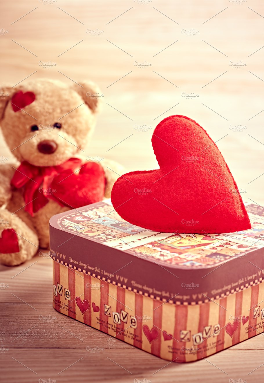 Valentines Day Teddy Bear Love Alone Waiting Arts