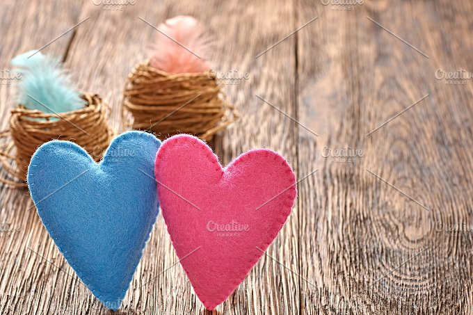 Love, Valentines Day. Hearts couple, - Arts & Entertainment