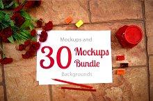 30 Mockups Bundle for Artists