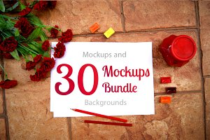 30 Mockups Bundle for Artists