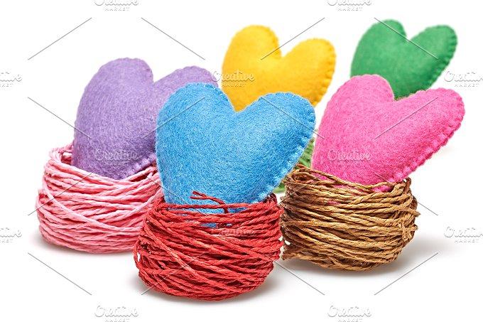 Love hearts handmade. Valentines Day. Isolated - Arts & Entertainment