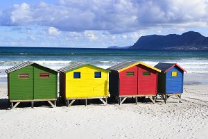 Muizenberg Beach colour houses