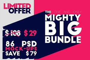 The Mighty Big Bundle - 78 Mock-ups
