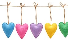 Love hearts, Valentines Day. Hearts,handmade,white