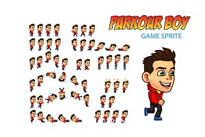 Parkour Boy Game Sprite